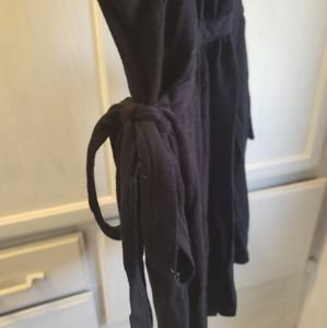 Boho Tops - Black Sleeveless Top With Side Ties Size L